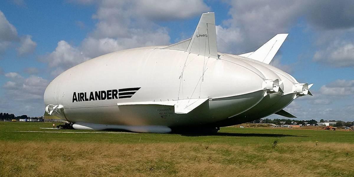 La aeronave más grande el mundo se estrelló en su segundo vuelo de prueba