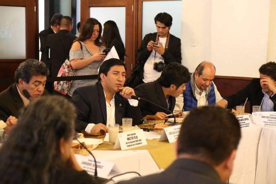 Amílcar Pop fue electo diputado por el partido Winaq. Foto: Bancada Winaq