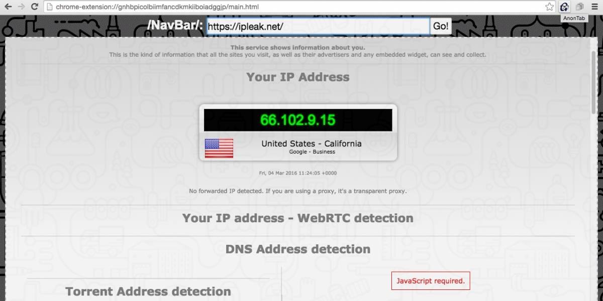 AnonTab potencia la privacidad y protección en Chrome y Firefox