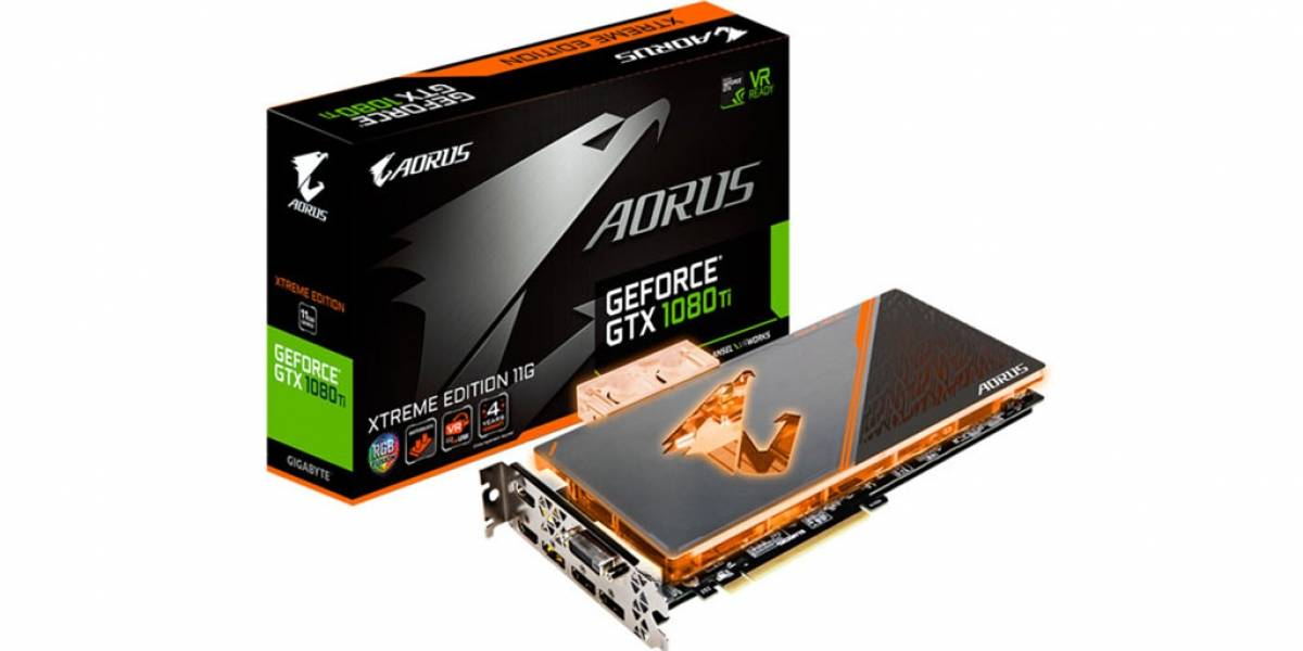 Gigabyte lanza una potente GeForce GTX 1080 Ti con enfriamiento líquido