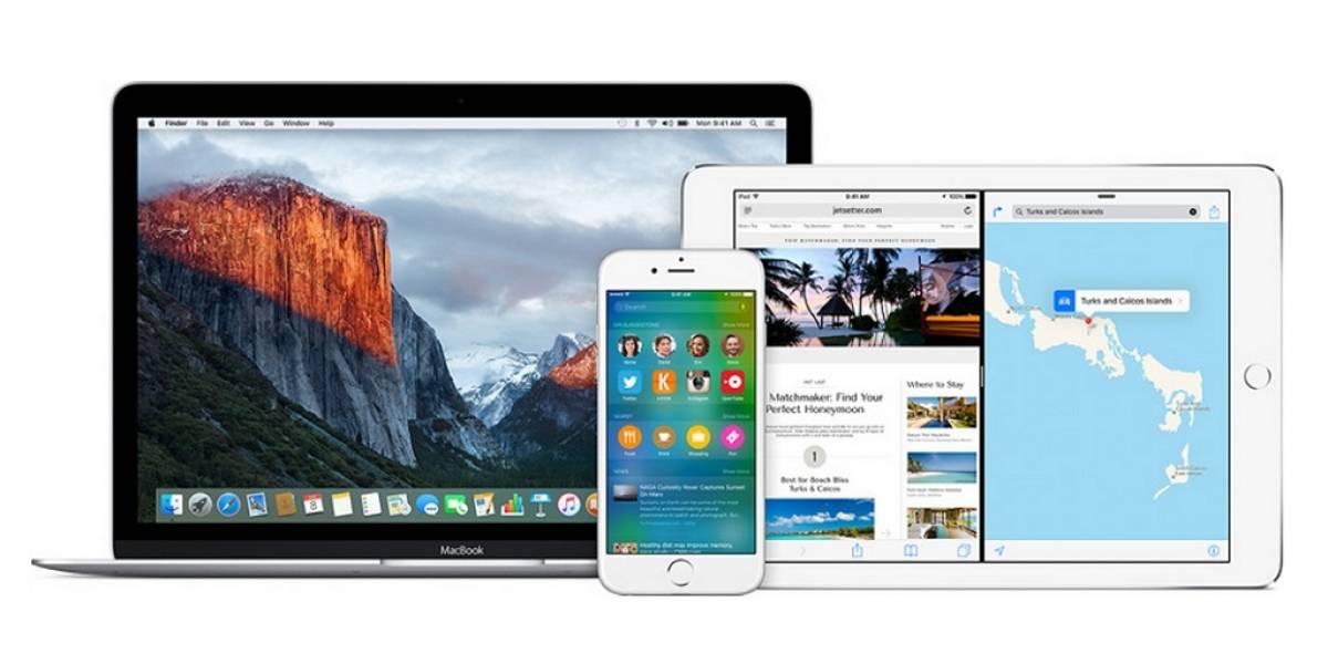 Apple lanza versión beta de iOS 9 y OS X El Capitan