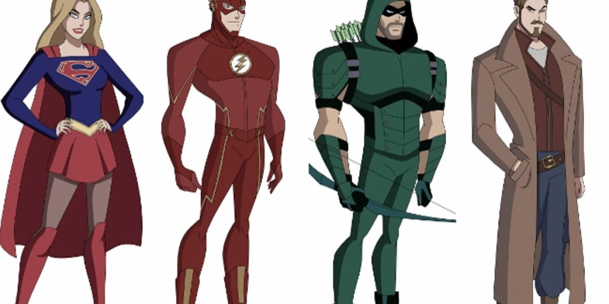 Recrean en versión animada a los personajes del Arrowverso