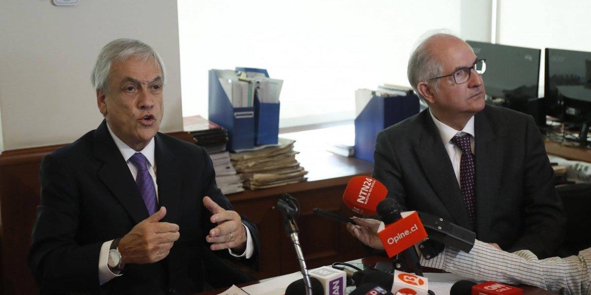 """Piñera se reúne con líder opositor Antonio Ledezma: """"Vamos a hacer todos los esfuerzos para que Venezuela recupere su libertad"""""""