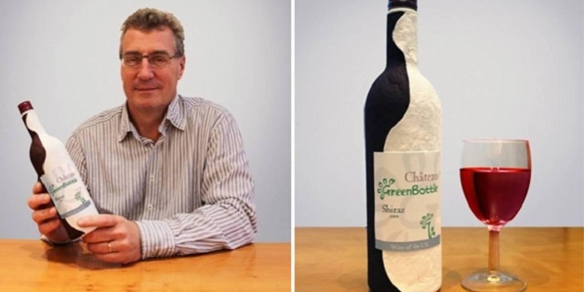 ¿Tomarías vino envasado en una botella de papel?