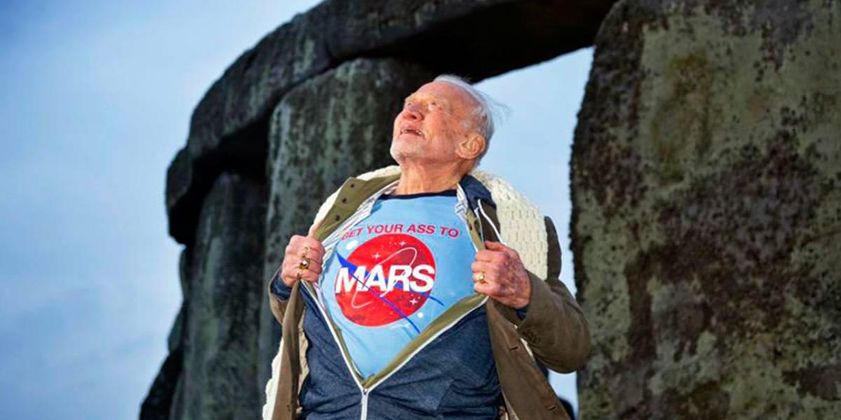 Buzz Aldrin ahora quiere que la humanidad se mude a Marte en el 2039