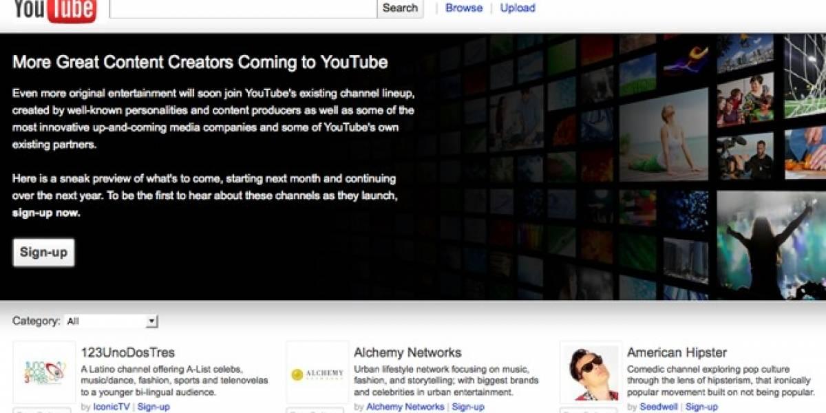 YouTube lanzará más de 100 canales de contenido