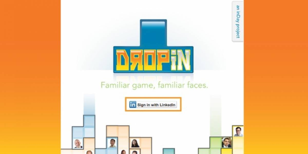 "Juega tetris con tus contactos de LinkedIn en ""DropIn"""