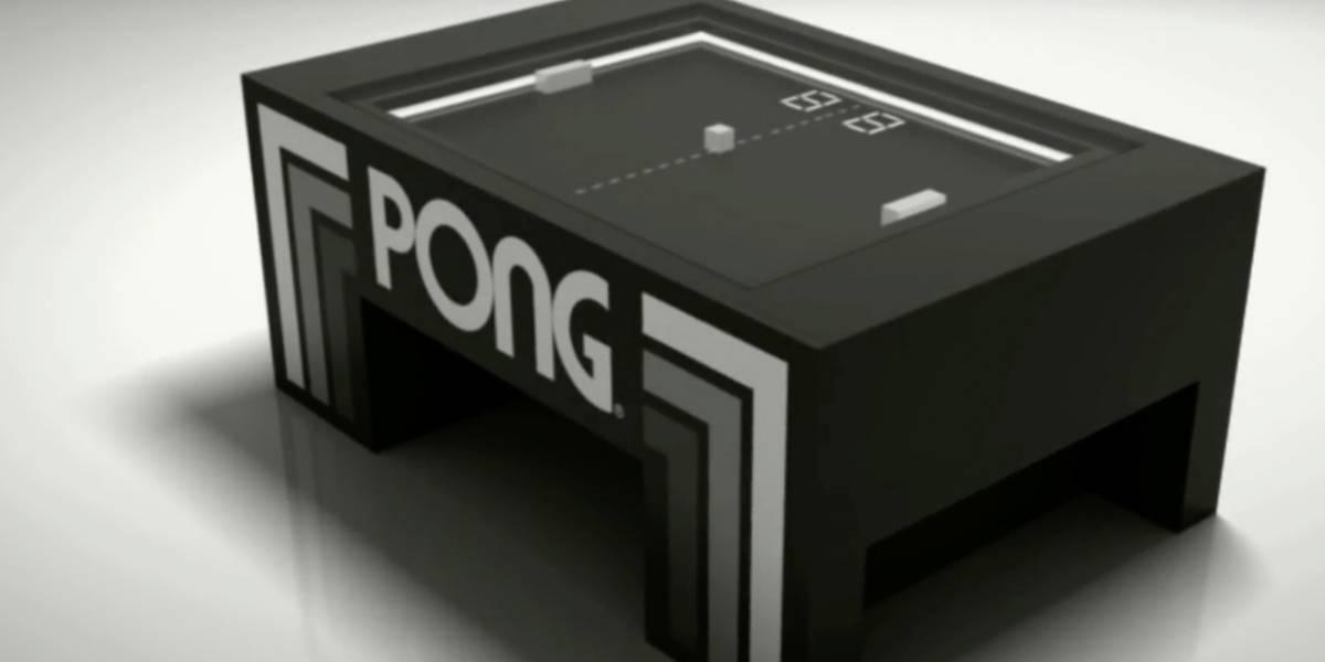 Alguien construyó una mesa de Pong de verdad