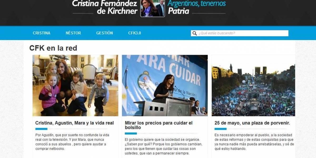 Argentina: La presidenta Cristina Kirchner tiene blog personal