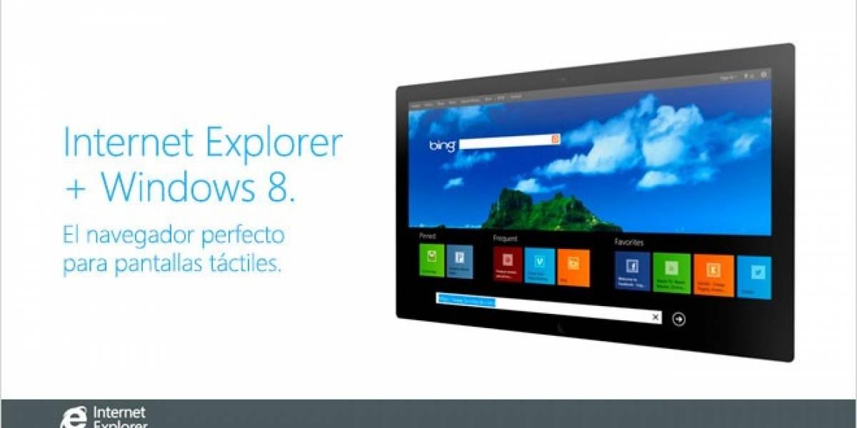 Internet Explorer 10 es el navegador que te ayuda a jugar y navegar más fácilmente en pantallas táctiles