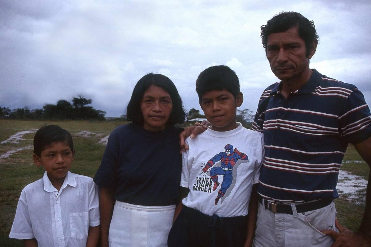 Ciro Galindo y familia