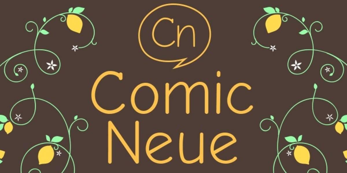 Comic Neue: la nueva versión moderna de la fuente Comic Sans