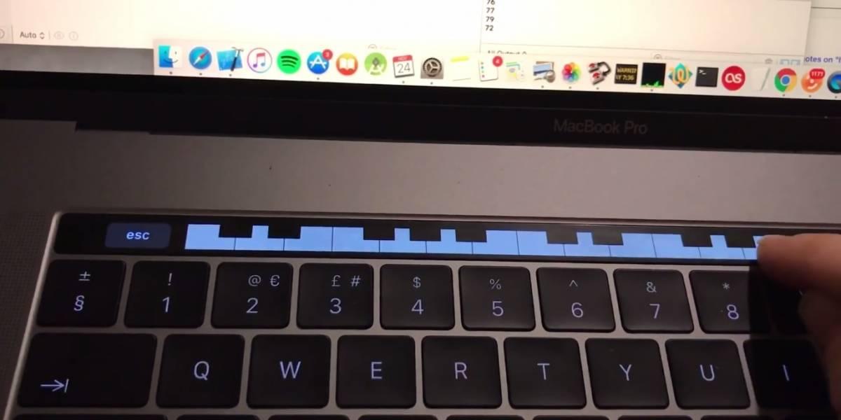 Puedes tocar piano con el Touch Bar del nuevo MacBook Pro
