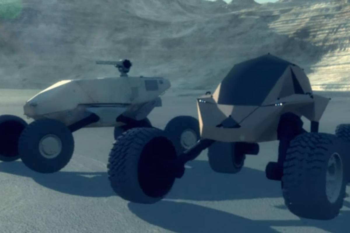 Así atacan los vehículos militares autónomos de DARPA