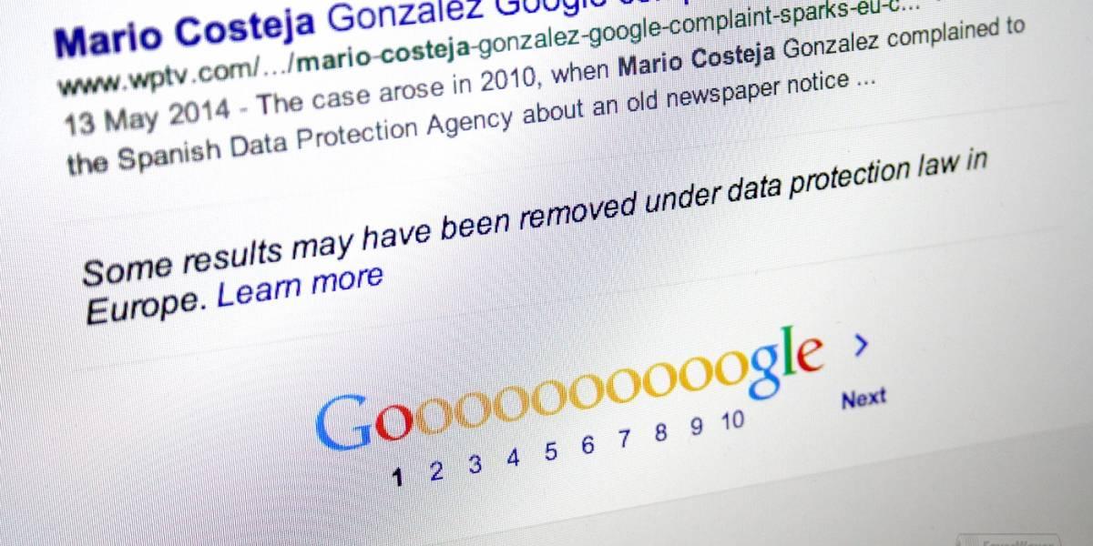Google ha comenzado a aplicar el derecho al olvido