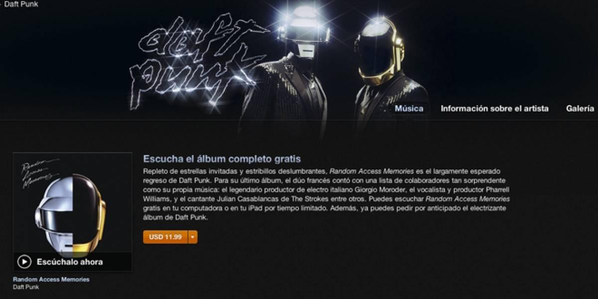Ya se puede escuchar completo el nuevo álbum de Daft Punk en iTunes (y gratis)