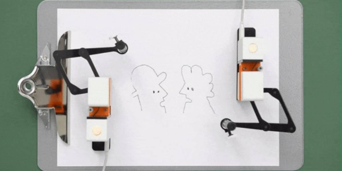 Crean robot que dibuja lo que sea que queramos en tiempo real