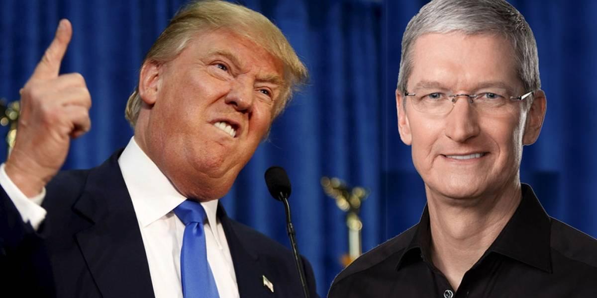 Trump asegura que Tim Cook está abierto a la posibilidad de mudar la producción de Apple