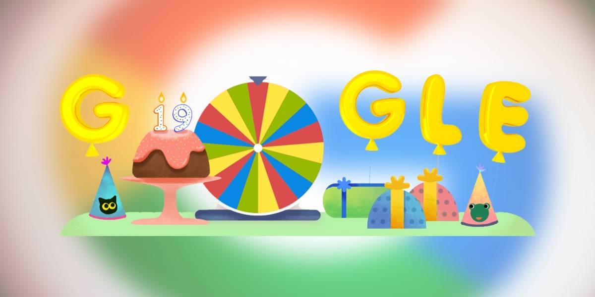 Google cumple 19 años y lanza una ruleta de juegos con sus mejores Doodles