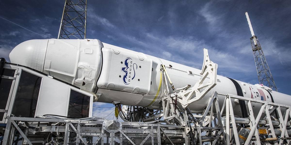 Así se estrelló el cohete Falcon 9 en su plataforma flotante