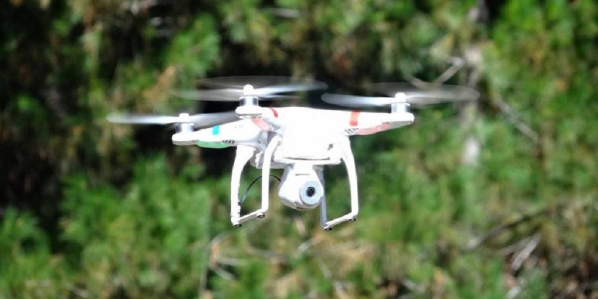 Dron permite detectar minas terrestres y bombas terroristas