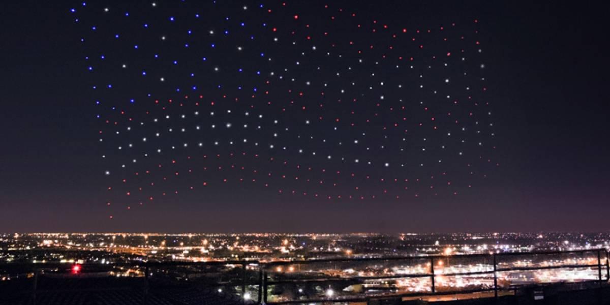 El show de drones del Super Bowl no fue ejecutado en vivo