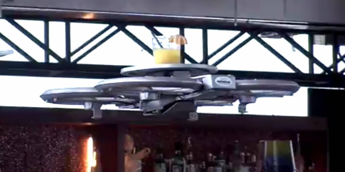 Drones ayudarán a meseros en restaurantes de Singapur