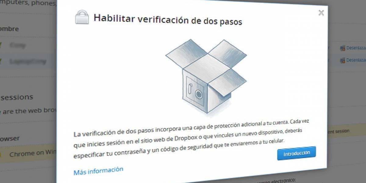 Dropbox activa opción de verificación de dos pasos para mejorar la seguridad