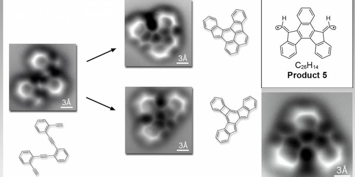 Por primera vez podemos ver enlaces químicos antes y después de una reacción