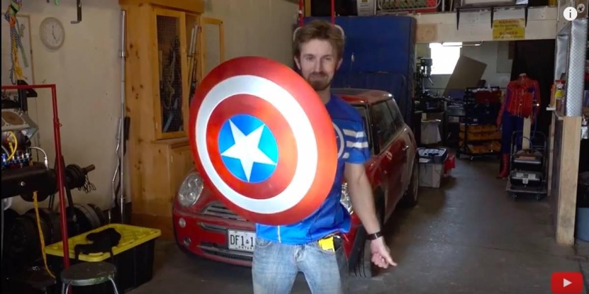 Fanático crea una réplica funcional del escudo del Capitán América
