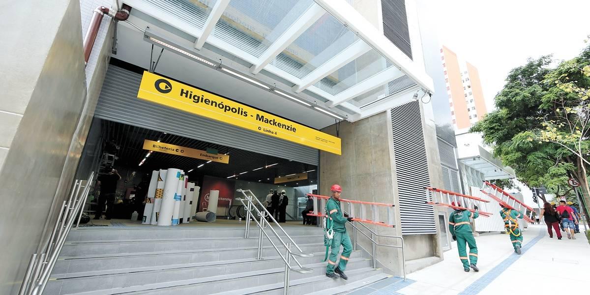 Estação Higienópolis do metrô abre nesta terça-feira