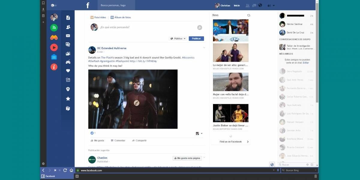 Flatbook te ofrece una versión más limpia y moderna de Facebook