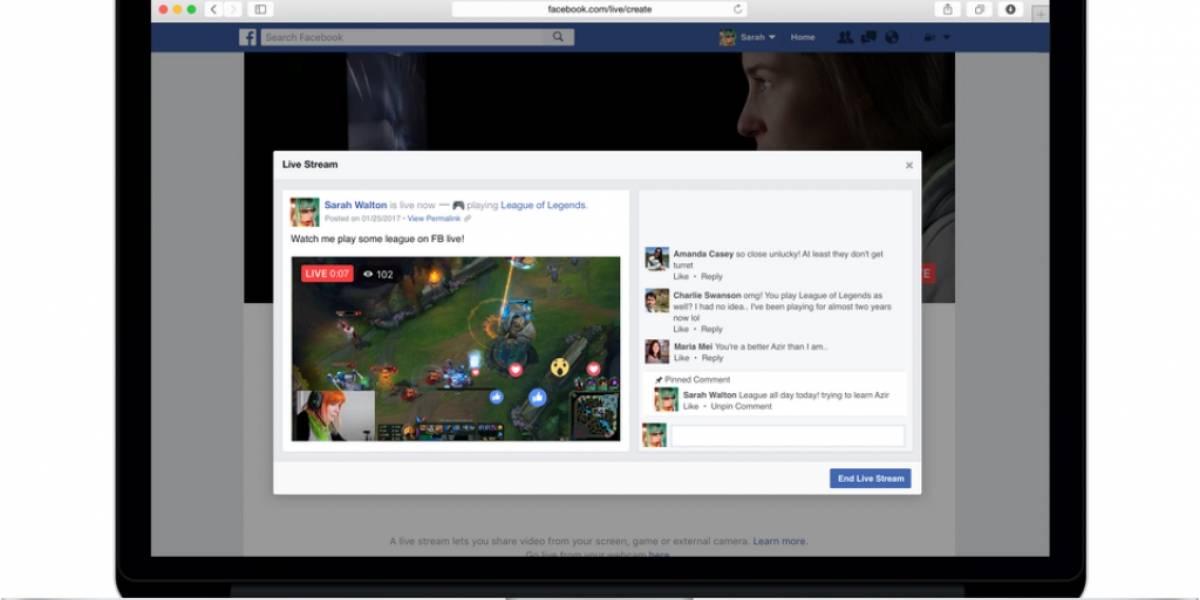 Ahora todos pueden hacer Facebook Live desde un computador