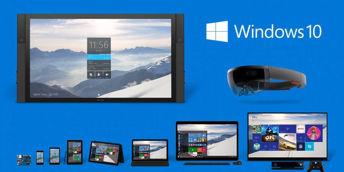Windows 10 llegaría a mil millones de dispositivos en 2017