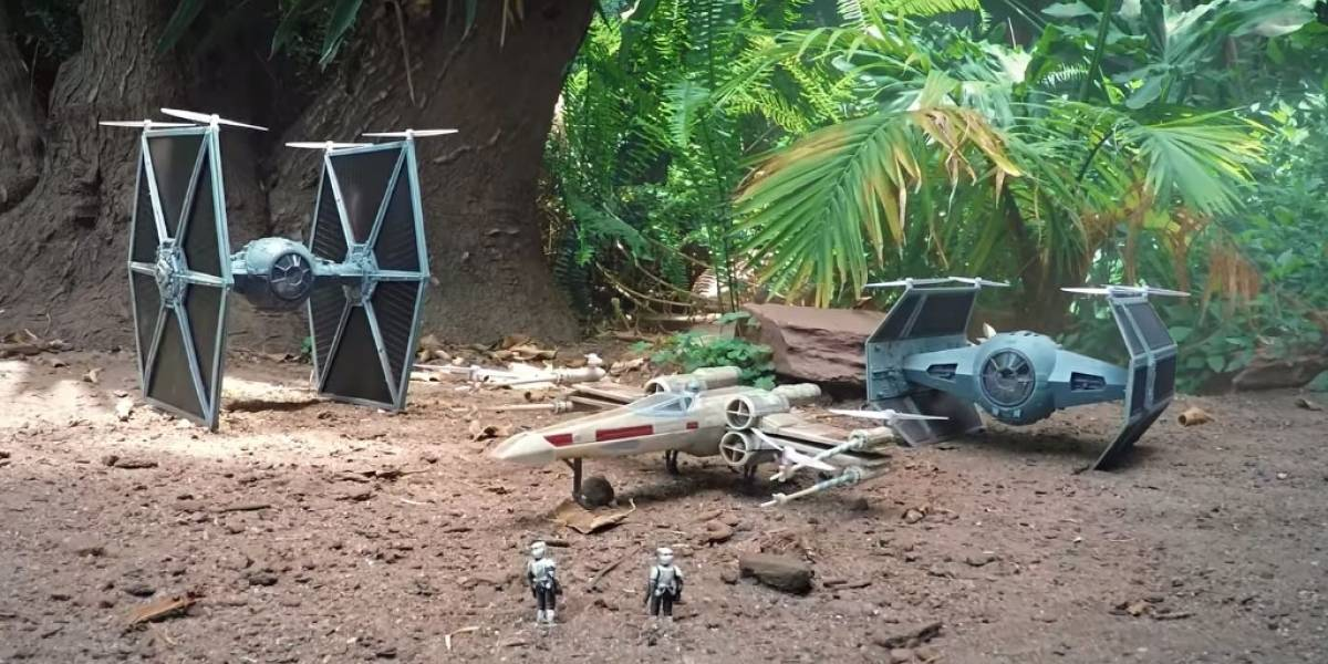 R2-D2 controla un X-Wing en este corto de Star Wars grabado con drones
