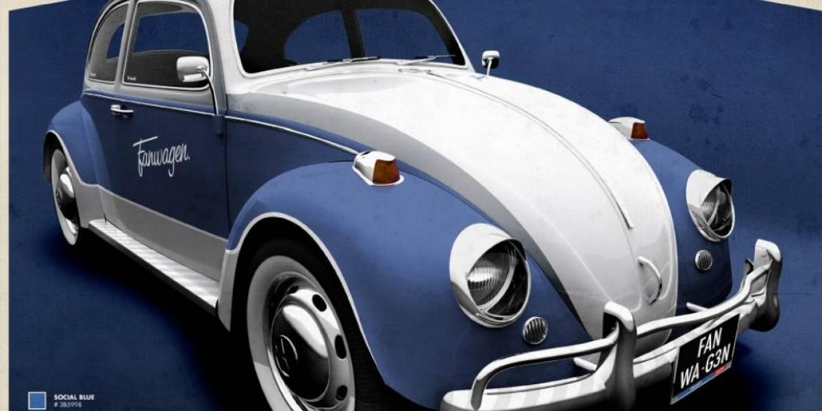 Fanwagen: el primer vehículo retro inspirado en Facebook que regala VW