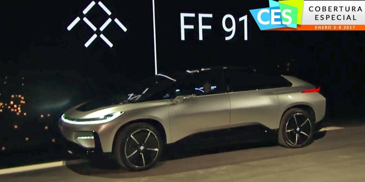 Faraday Future revela auto eléctrico que quiere competir con Tesla #CES2017