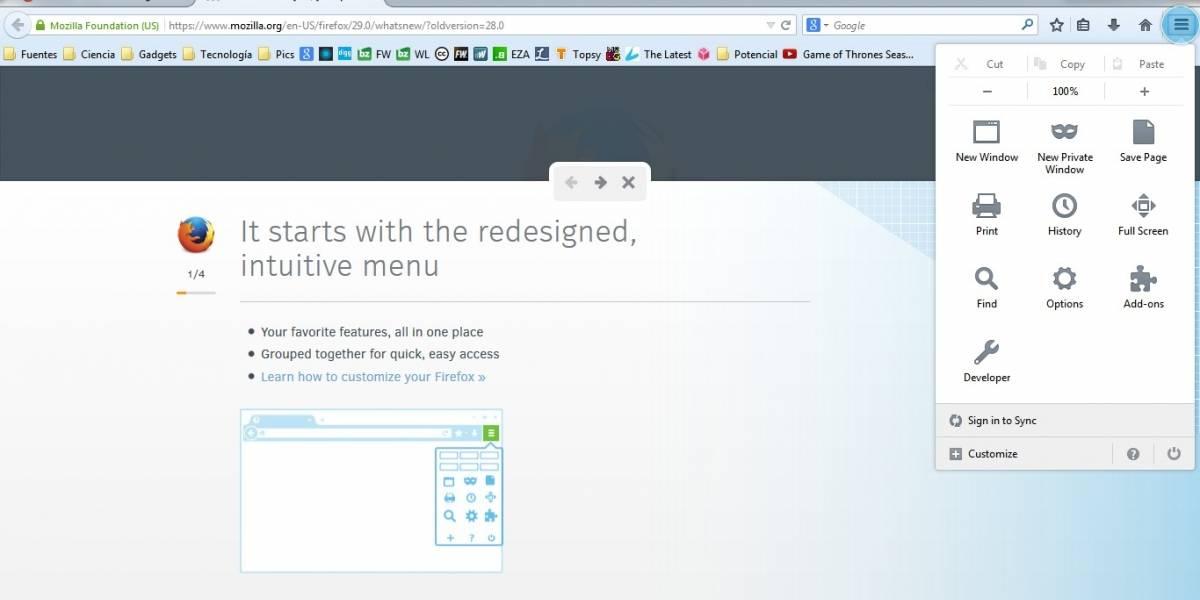 """Última actualización de Firefox es """"la más personalizable"""" que ha lanzado Mozilla"""