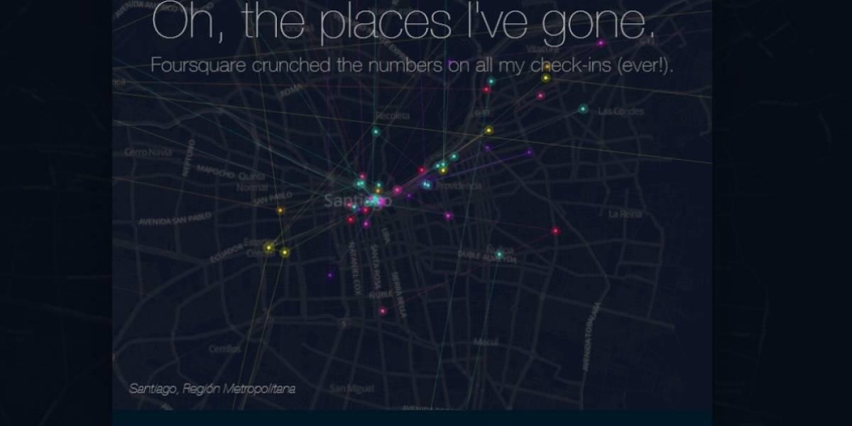 La máquina del tiempo de Foursquare te permite ver dónde estuviste