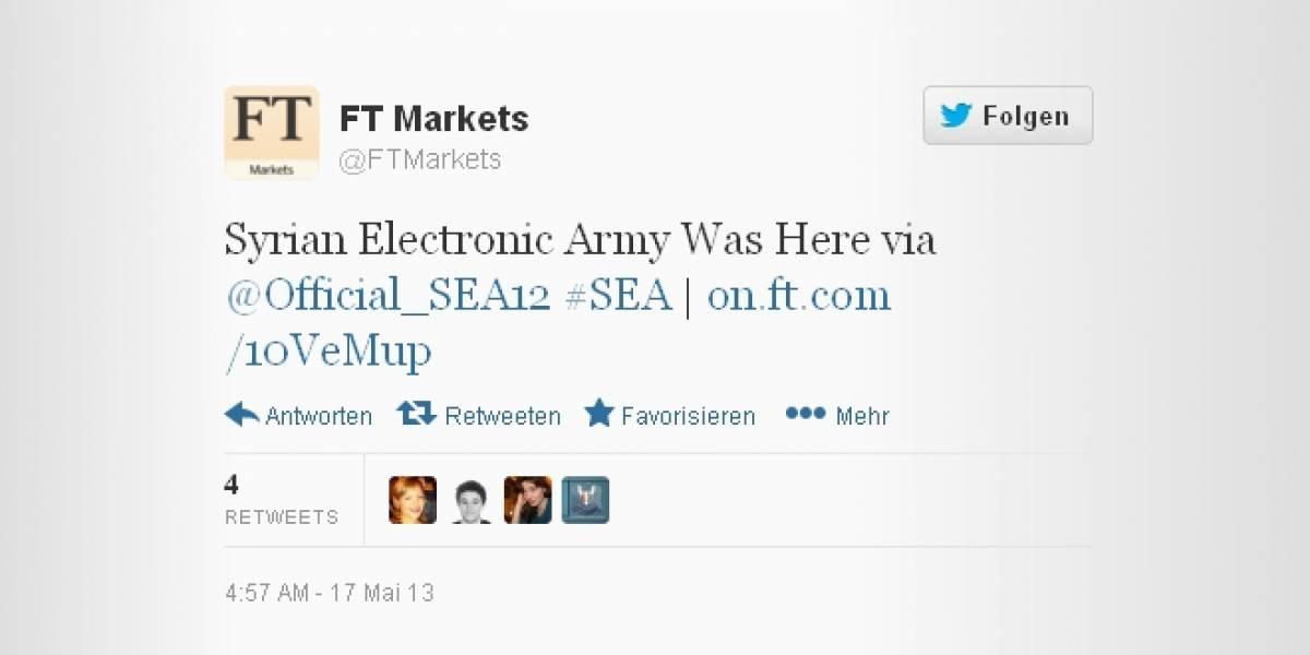 Ejército Electrónico Sirio hackea cuentas del Financial Times