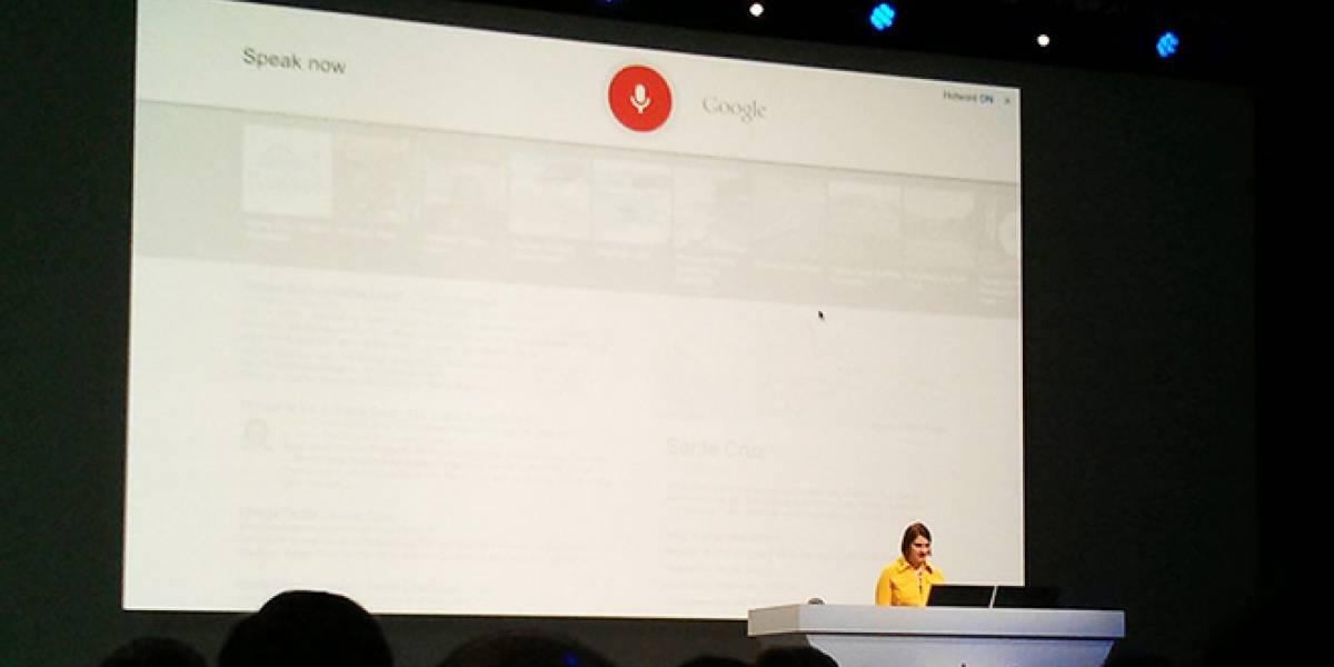 Buscador web Google ahora te escucha hablar y responde en voz alta #IO13
