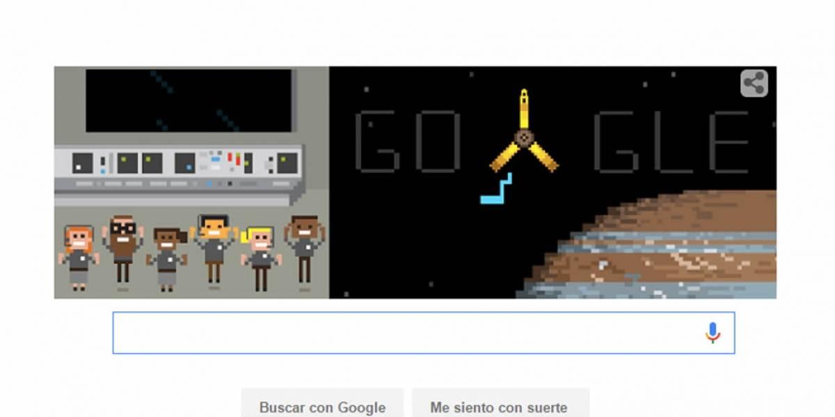 Google celebra la llegada de Juno a Júpiter con doodle animado