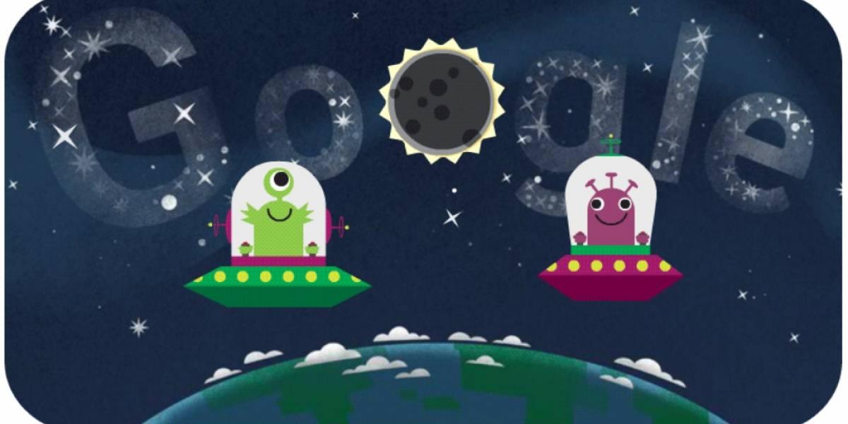 Google explica el eclipse solar con un Doodle