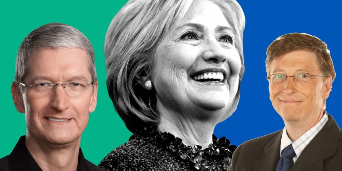 Hillary Clinton quería a Tim Cook o Bill Gates como vicepresidentes