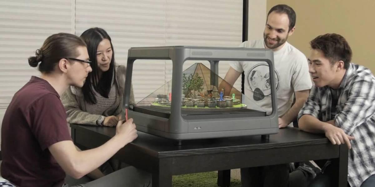Conoce Holus, la mesa holográfica interactiva