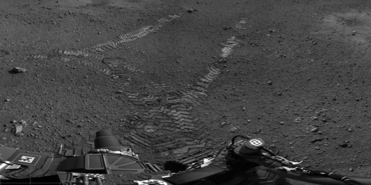 Curiosity deja sus primeras huellas sobre el suelo de Marte
