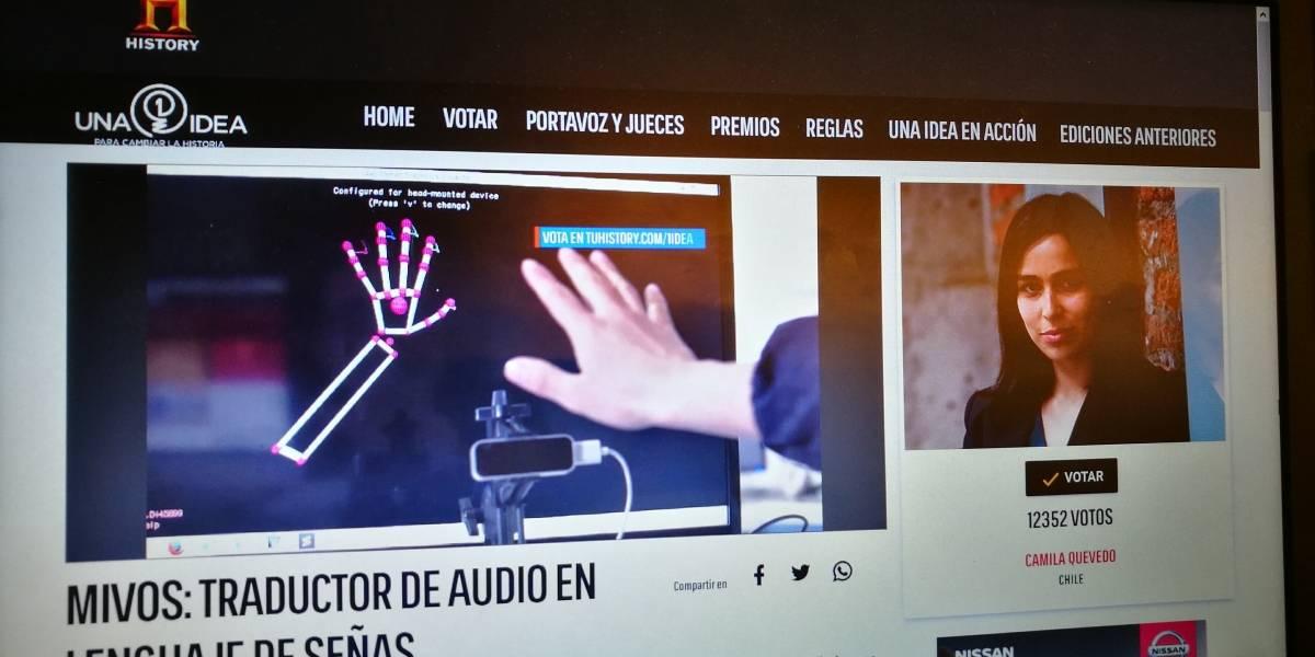 Chilenos de Rotatecno participan en concurso de History Channel con traductor de lenguaje de señas a audio