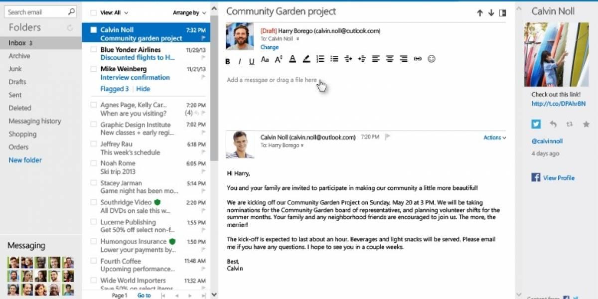 Outlook.com añade nuevas herramientas para gestionar los correos electrónicos