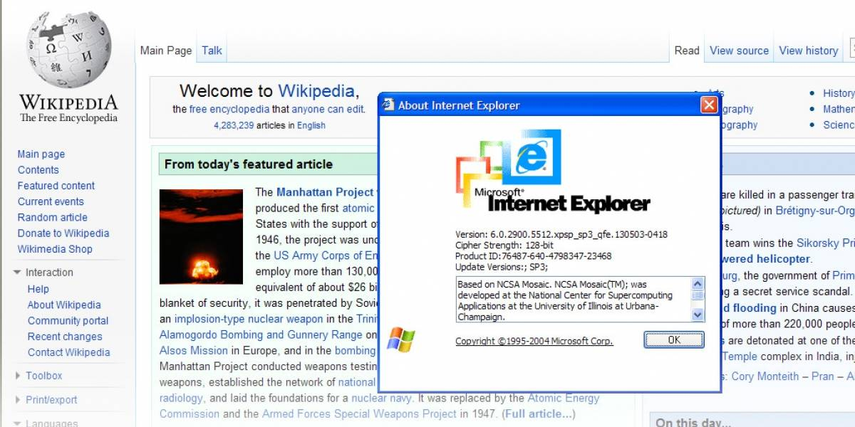 Muere Internet Explorer 6, muere