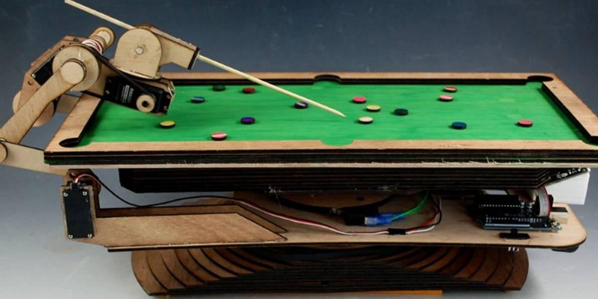 Ingeniero desarrolla un robot que juega al billar